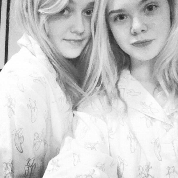 Avec sa petite soeur, Elle Fanning