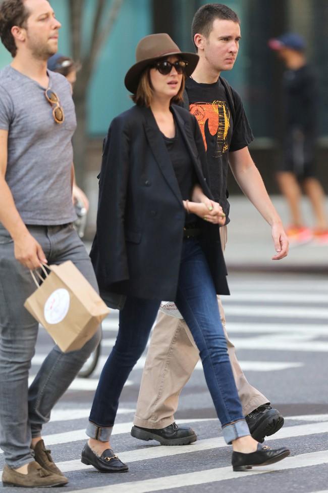 Dakota Johnson à New-York le 28 juillet 2015