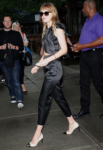 Dakota Jonhson à New York le 24 juillet 2014