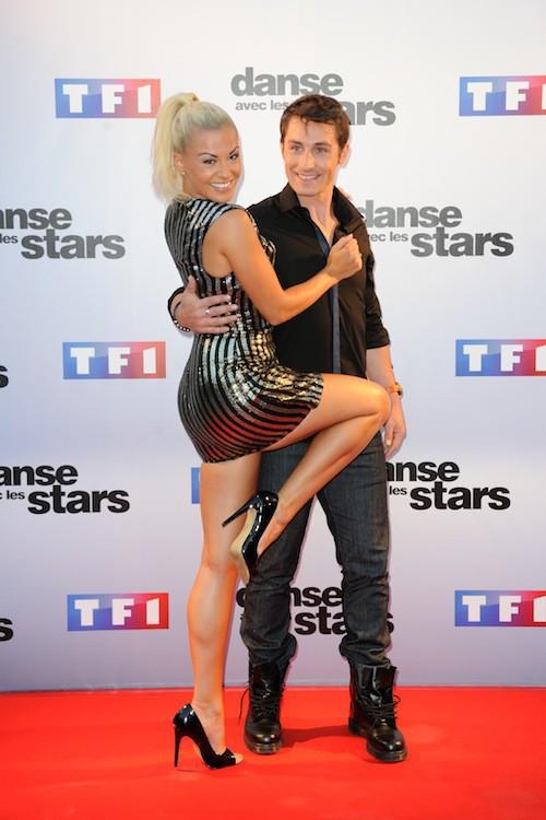 Brian Joubert et Katrina Patchett lors du Photocall DALS 5 à Paris le 10 septembre 2014
