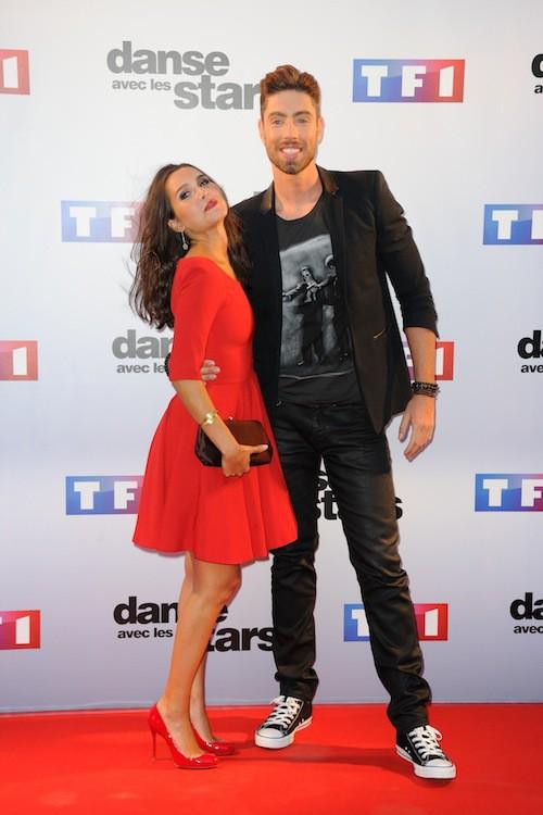 Joyce Jonathan et Julien Brugel lors du Photocall DALS 5 à Paris le 10 septembre 2014
