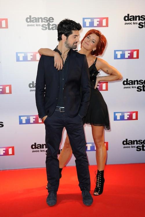 Miguel Angel Munoz et Fauve Hautot lors du photocall DALS 5, à Paris, le 10 septembre 2014