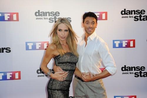 Tonya Kinzinger et Maxime Dereymez lors du Photocall DALS 5 à Paris le 10 septembre 2014