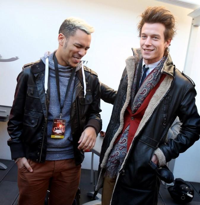Daniel et Sidoine de la Star Academy 9 à Cannes le 25 janvier 2013
