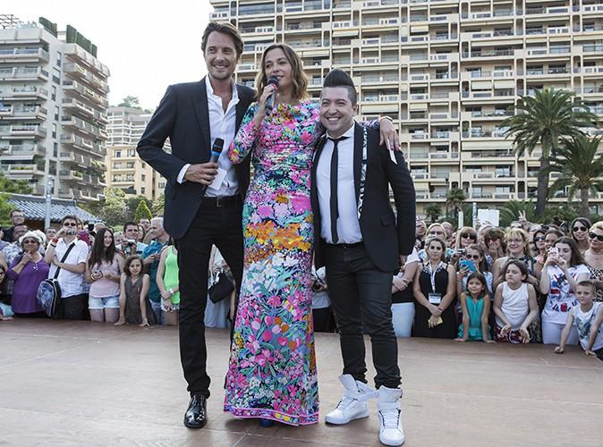 Vincent Cerutti, Sandrine Quétier et Chris Marques à Monte-Carlo le 8 juin 2014