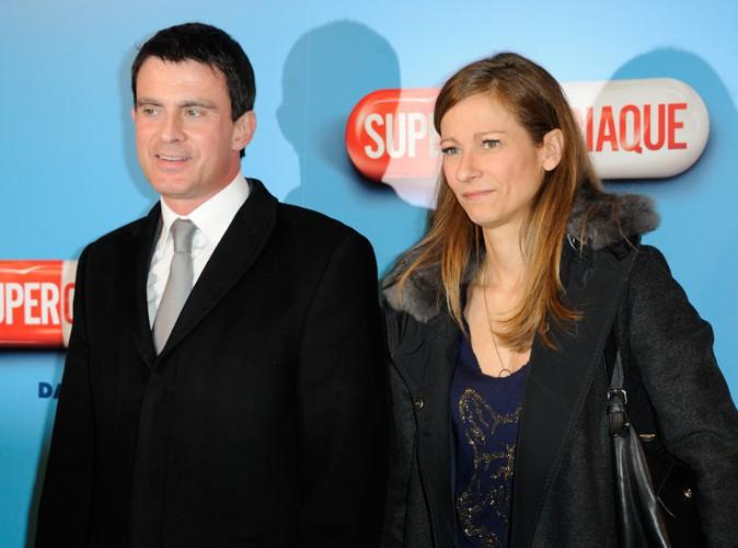 Manuel Valls et Anne Gravoin à Paris le 24 février 2014