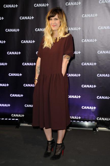 Daphné Burki lors de la soirée de rentrée de Canal + à Paris, le 28 août 2013.