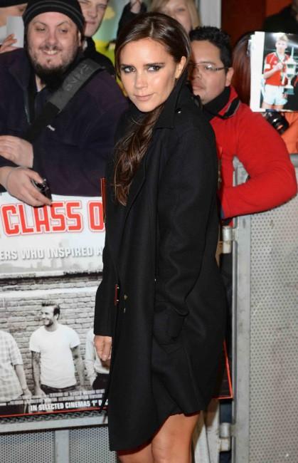 """Victoria Beckham lors de la première mondiale du documentaire """"The Class of 92"""" à Londres, le 1er décembre 2013."""