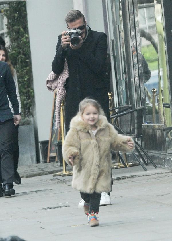 David et Harper Beckham à Londres