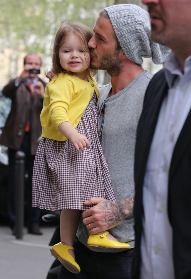David Beckham en famille à Paris le 3 mai 2013