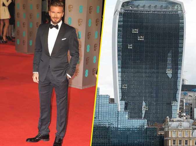 David Beckham comparé au Walkie Talkie de Londres