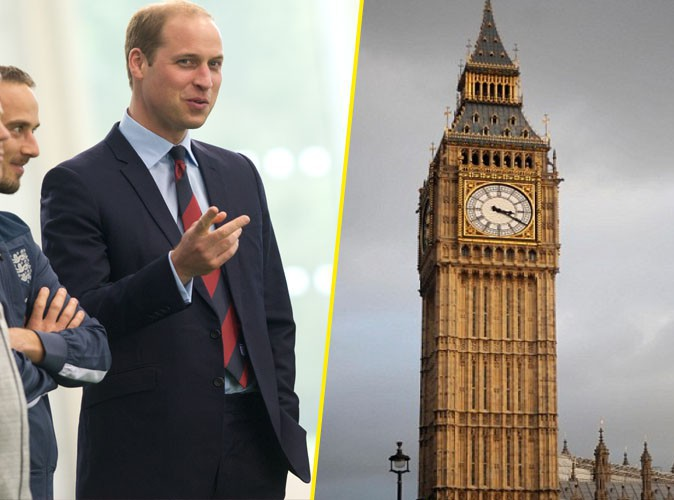 Le Prince William comparé à Big Ben