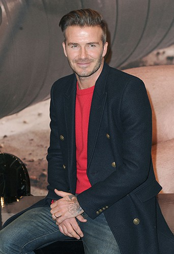 David Beckham à New-York le 1er février 2014