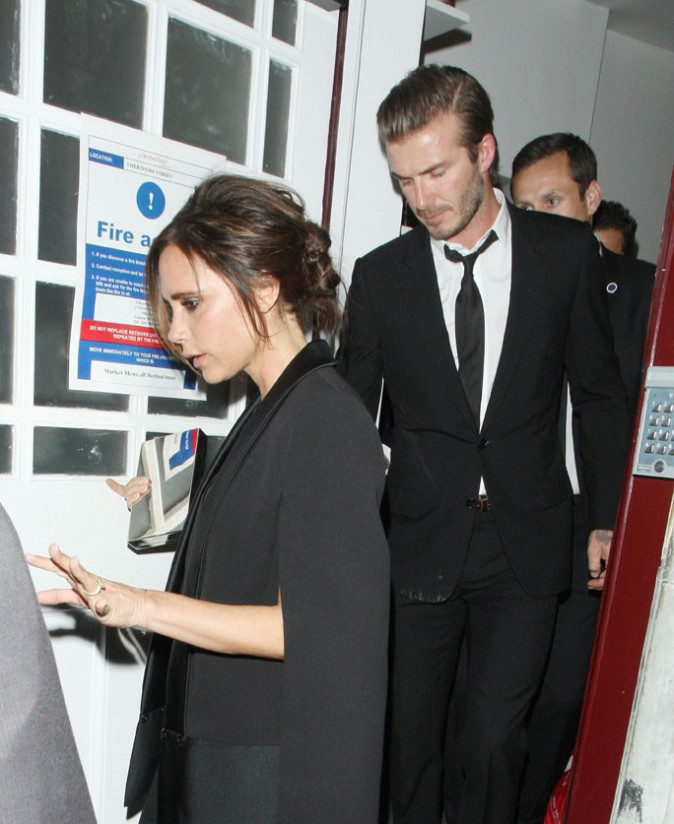 Victoria et David Beckham au dîner Global Fund and British Fashion Council à Londres le 16 septembre 2013