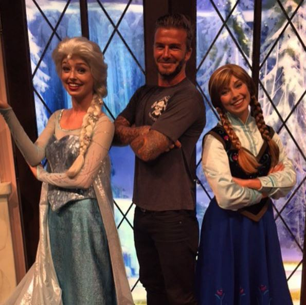La famille Beckham à Disneyland