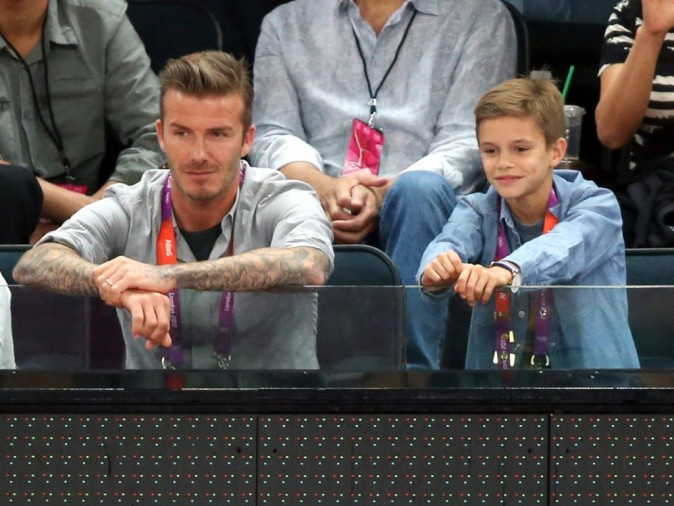 David Beckham en mode papa poule à Londres