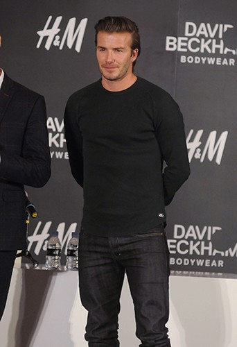 David Beckham à Shanghai le 20 novembre 2013