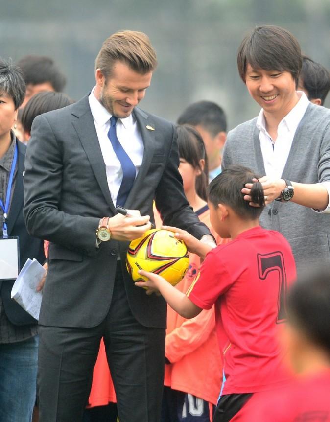 David Beckham, Chine, 23 mars 2013.