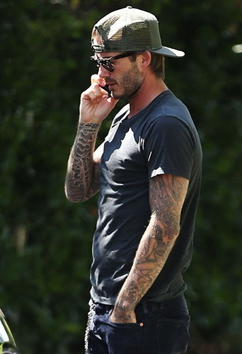 David Beckham à Los Angeles le 30 août 2013