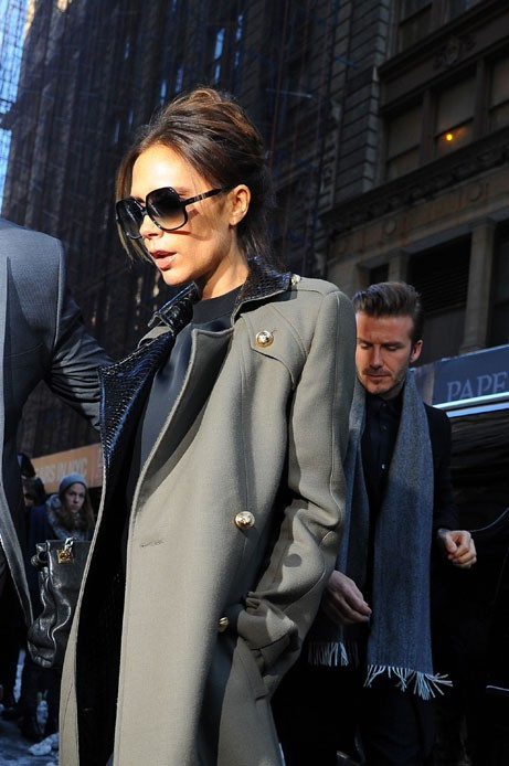 Victoria et David Beckham à New-York le 10 février 2013