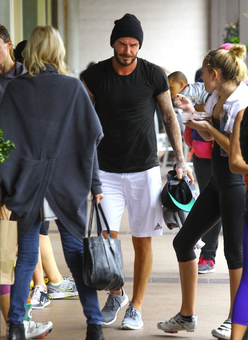 "Photos : David Beckham : trop ""potelé"" ? Il se remet au sport !"
