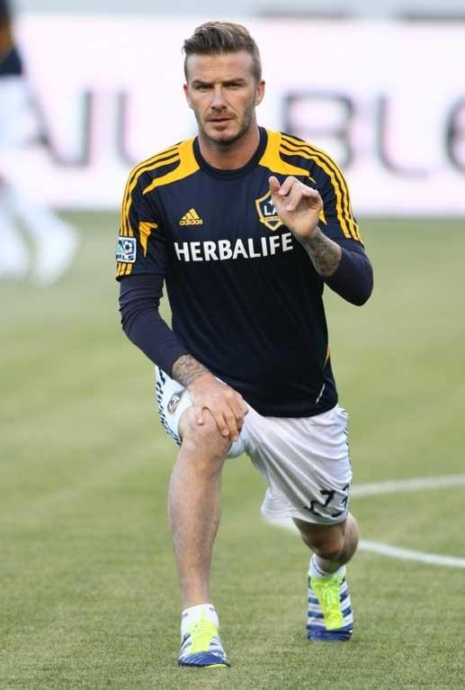 David Beckham à l'échauffement !
