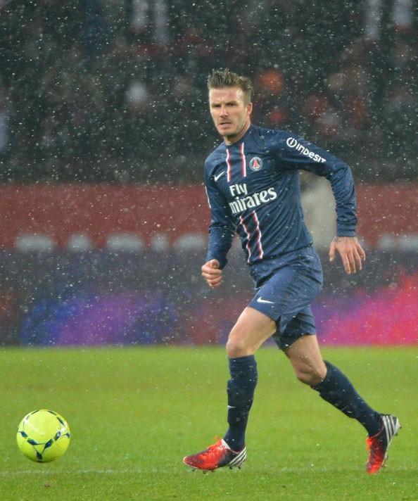 David Beckham au Parc des Princes de Paris le 24 février 2013