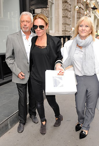 Louise, Jackie et Anthony Adams à Londres le 25 septembre 2014