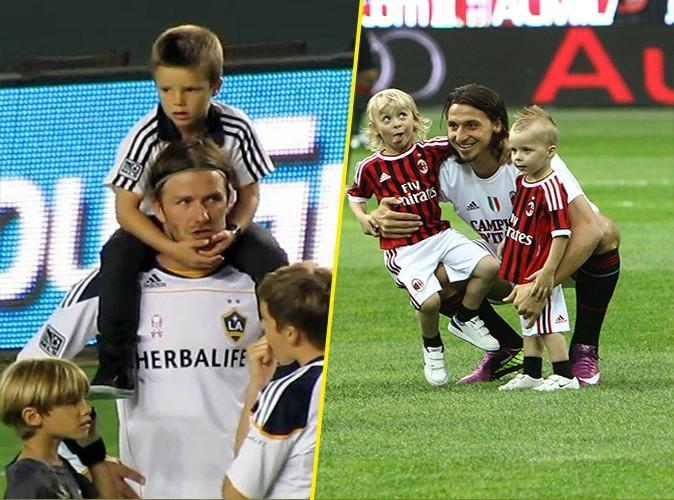 David est toujours entouré de ses fils, surtout à la fin des matchs. Zlatan est inséparable de ses deux petites têtes blondes. Ex-aequo !