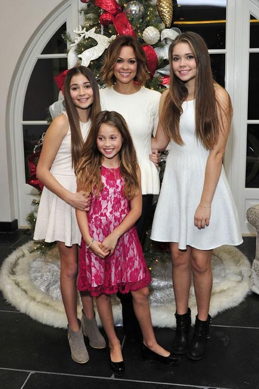 David Charvet et Brooke Burke en famille à Los Angeles le 1er décembre 2014