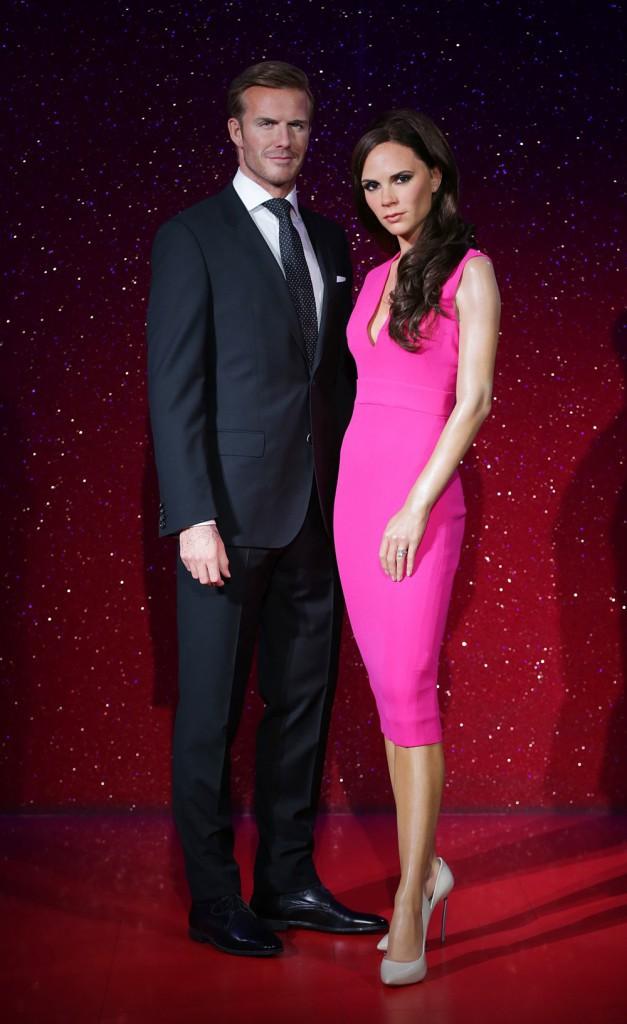 David et Victoria Beckham : d�couvrez leurs statues de cire plus vraies que nature !