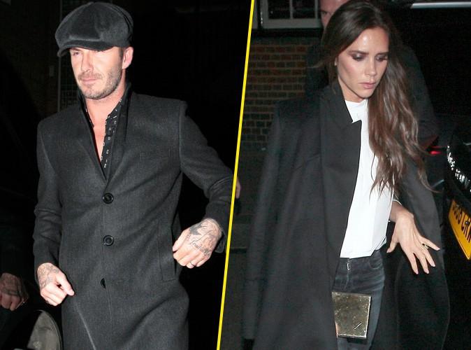 David et Victoria Beckham se retrouvent... Le couple londonien parfaitement assorti !