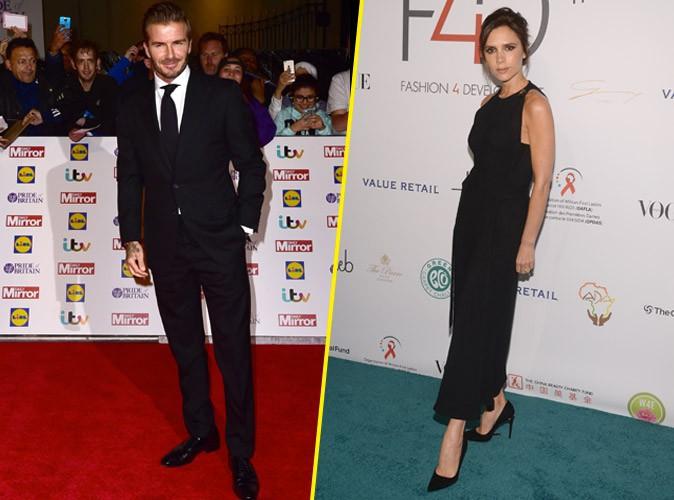 David et Victoria Beckham, toujours aussi glamour, m�me � distance !