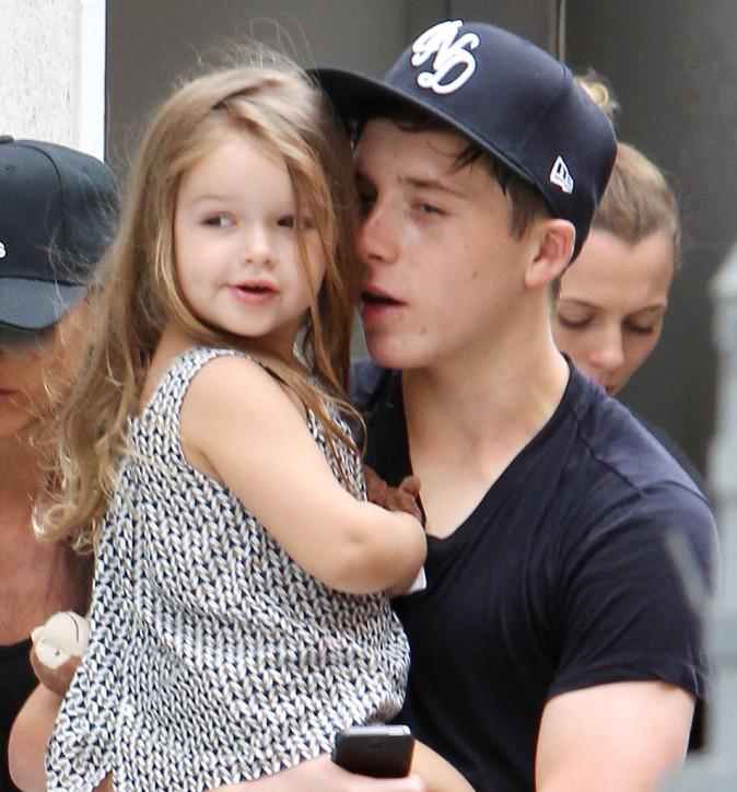Photos : David et Victoria Beckham : virée sportive en famille, Harper aux anges !