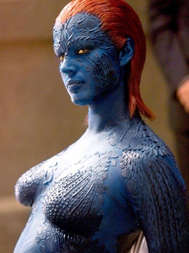 Rebecca Romijn (Mystique dans X-Men, X-Men 2, X-Men : L'Affrontement final)