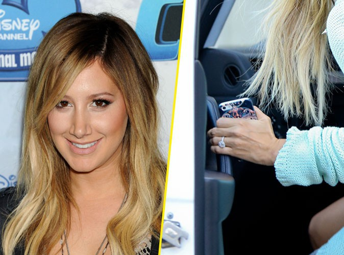 La belle et grosse bague de fiançailles d'Ashley Tisdale !