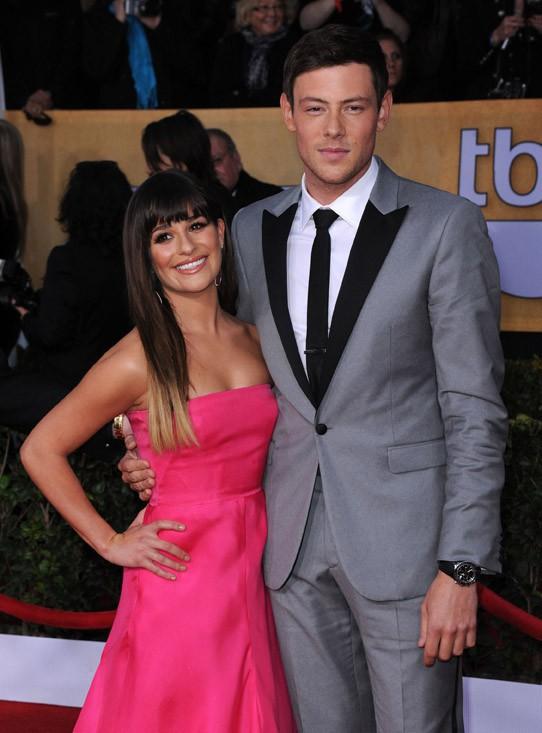 Cory et Lea sur tapis rouge