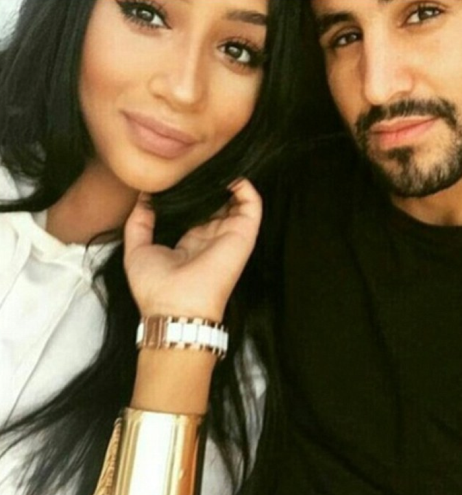 Rita Johal avec son mari le footballeur Rayad Mahrez