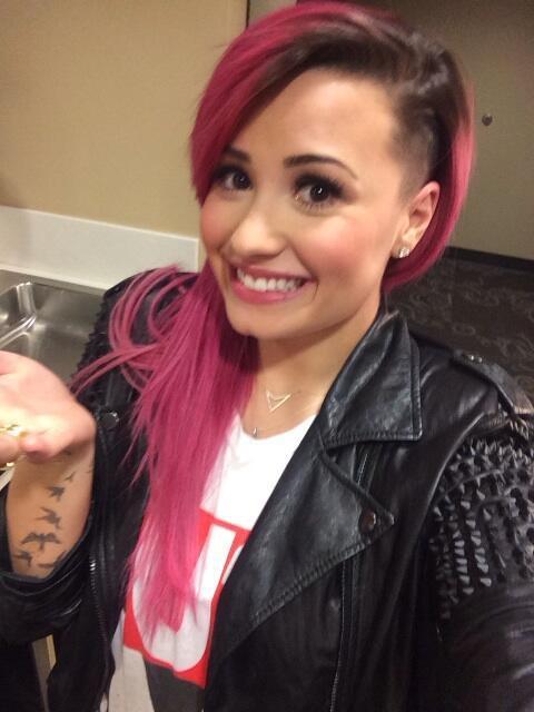 Demi Lovato multiplie les selfies avec sa nouvelle coupe
