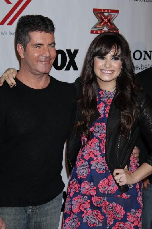 Demi Lovato et Simon Cowell le 6 décembre 2012 à Los Angeles
