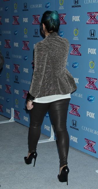 """Demi Lovato lors d'un événement """"X Factor"""" à Los Angeles, le 4 novembre 2013."""
