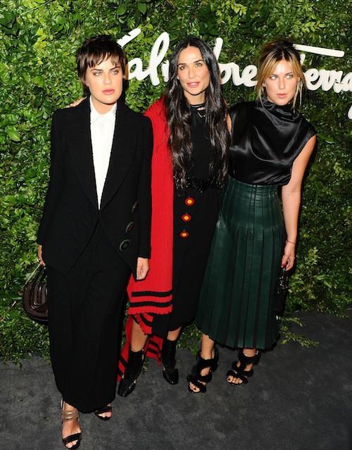 Tallulah Willis, Demi Moore et Scout Willis à Los Angeles, le 9 septembre 2015