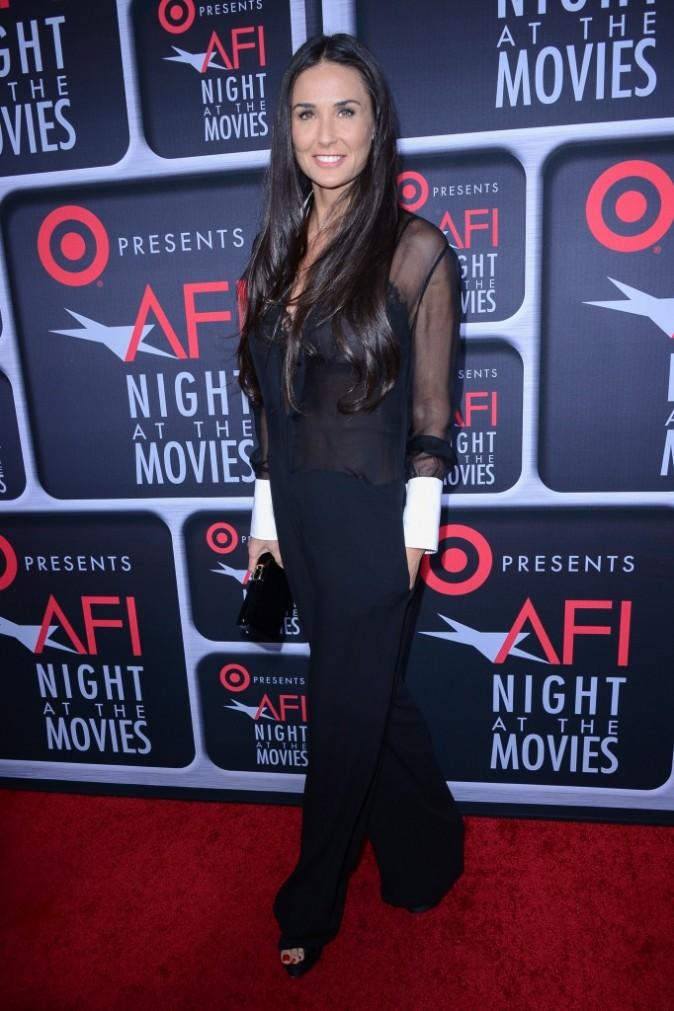 """Demi Moore lors de la soirée """"Target's AFI Night at the Movies"""" à Hollywood, le 24 avril 2013."""