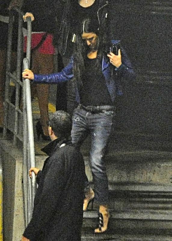 Photographiée à la sortie d'un nightclub