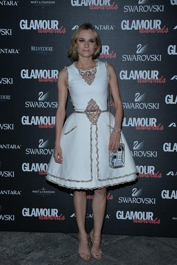 Diane Krüger à la soirée des Glamour Awards organisée le 11 décembre 2014 à Milan