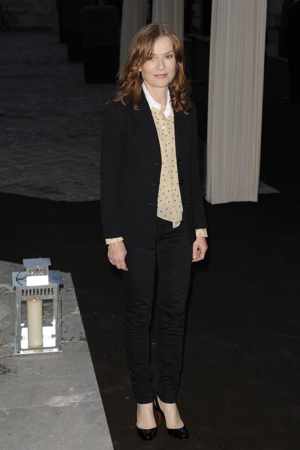Isabelle Huppert lors des 80 ans de la montre Reverso de l'horloger Jaeger-Lecoultre à Paris, le 28 juin 2011.