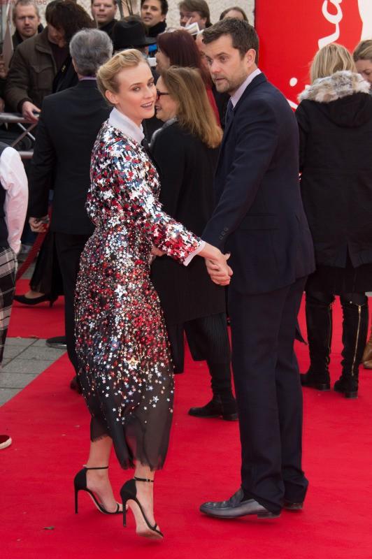 """Diane Kruger et Joshua Jackson lors la première du film """"The Galapagos Affair : Satan Came to Eden"""" à Berlin, le 10 février 2014."""