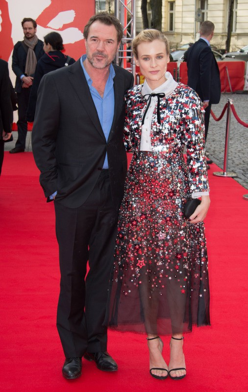 """Diane Kruger et Sebastian Koch lors la première du film """"The Galapagos Affair : Satan Came to Eden"""" à Berlin, le 10 février 2014."""