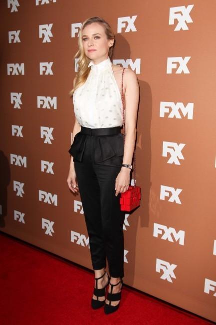 """Diane Kruger lors de la soirée """"2013 FX Upfront Bowling Event"""" à New York, le 28 mars 2013."""