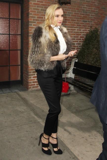"""Diane Kruger se rendant à la soirée """"2013 FX Upfront Bowling Event"""" à New York, le 28 mars 2013."""